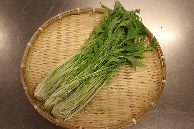 ザルにのった水菜