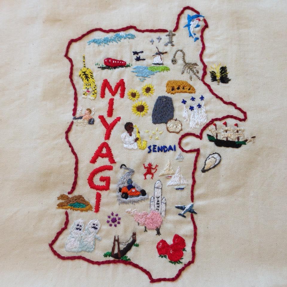 宮城の刺繍