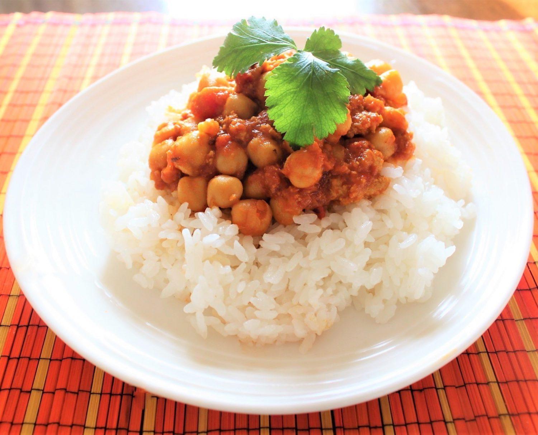 ひよこ豆とトマトのカレー