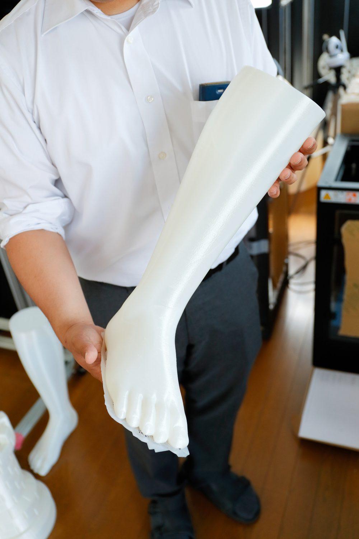 3Dプリンターで出力した足