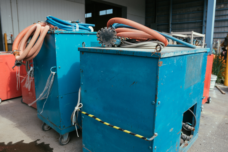 放水機のダイナマイトポンプ