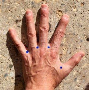 手の指の間にあるツボ「指間穴」「虎口」