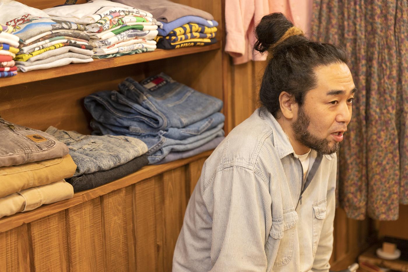 古着屋「chuple」のカツゲンさんの横顔