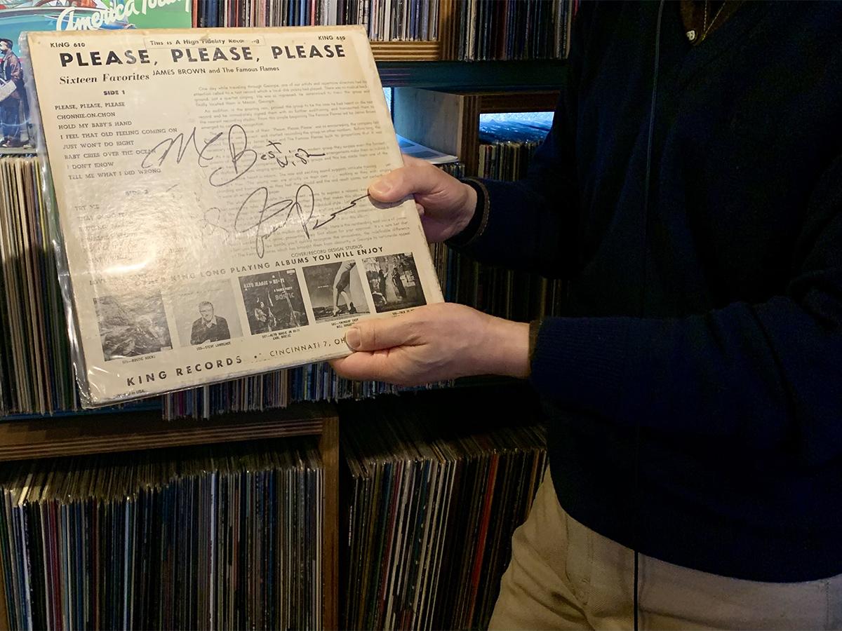 ジェームス・ブラウンのサイン入りレコード